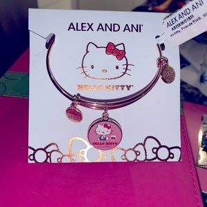 Alex Ani Hello Kitty Charm Bangle Pink Gold Finish